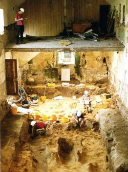 Portmahomack; excavations in the church 1997