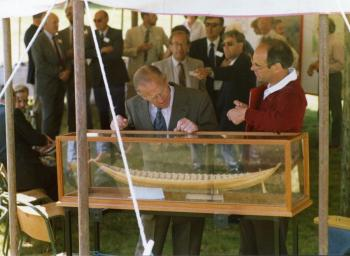 Sutton Hoo; with Prince Phillip