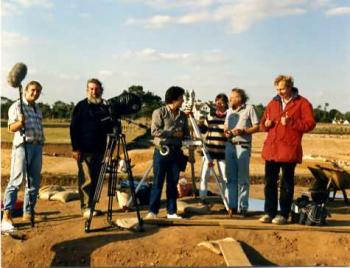 Sutton Hoo; filming with Ray Sutcliffe and BBC